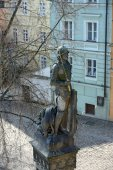 Bruncvik statue on the pillar of Charles bridge, Prague. — Stock Photo