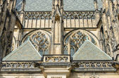 Facade part of St. Vitus Cathedral in Prague, Czech Republic. — Stock Photo