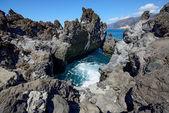 Very small cove among Barbero cape rocks, Tenerife, Canary Islan — Stock Photo