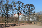View from terrace near Wall Pavilion of Zwinger, Dresden, German — Stock Photo
