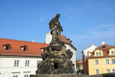 St. Vitus statue of Charles Bridge in Prague, Czech Republic. — Stock Photo