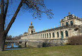 South-eastern side of Zwinger complex in Dresden, Saxony, German — Stock Photo