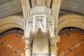 Bracket under vault of Golden Gate, St. Vitus Cathedral, Prague. — Stock Photo