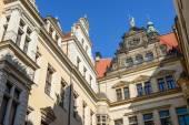Skyline of buildings in Schloss Street end, Dresden, Saxony, Ger — Stock Photo