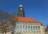 New Town Hall with old tower in Dresden, Saxony, Germany. — Stock Photo