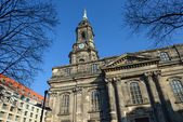 Exterior of Kreuzkirche in Dresden, Saxony, Germany. — Stock Photo
