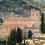Abbey of Saint Antimo, Tuscany — Stock Photo #53853319