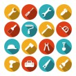 Tools flat icons set — Stock Vector #55487855