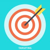 Targeting Icon Flat — Stock Vector