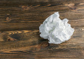 Crumpled white paper — Stock Photo
