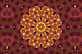 Aztec kaleidoscope abstract — Foto de Stock