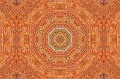 Brick wall kaleidoscopic pattern — Stock Photo