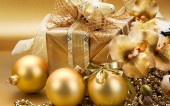 Christmas Golden toys — 图库照片