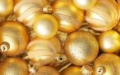 Christmas Golden toys — Stock Photo