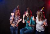 Girls - teenagers on holiday — Stock Photo