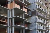 Construction of modern multi-storey buildings — Стоковое фото