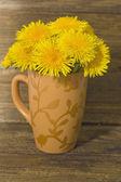 Bouquet of dandelions — Stock Photo
