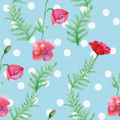 Seamless pattern with poppies — Vettoriale Stock