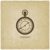 Retro pocket watch old background — 图库矢量图片