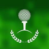 Golf symbol green blurred background — Vector de stock