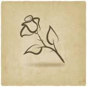 Rose flower symbol — Stock Vector