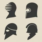 Helmet icon set — Stock Vector