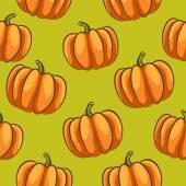Pumpkins seamless pattern — Stock Vector