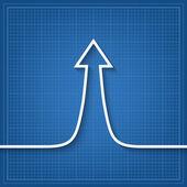 Arrow up sign — Stock Vector
