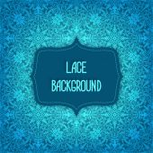 Lace blue background — Stock Vector