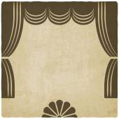 Theater stage with curtains old background — Stock Vector