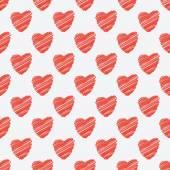 Χωρίς ραφή πρότυπο κόκκινες καρδιές — Διανυσματικό Αρχείο