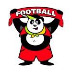 Panda fan logo — Stock Vector #62907107