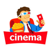 Cinema man logo — Stock Vector