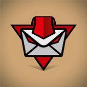 Mobile message logo — Stok Vektör