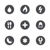 Social services icons set — Stock Vector