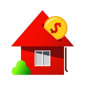 Investing in home purchase sign — Stock vektor