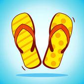 Beach slippers icon — Stock Vector