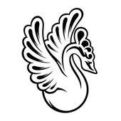 Graceful swan logotype — Stock Vector