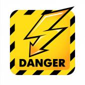 Flash danger button — Stock Vector