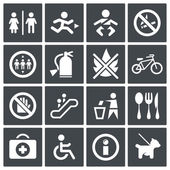International signs icon set — Stock Vector