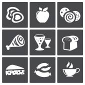 Collection of  food icons — Stock Vector