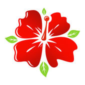 Beautiful  red Flower — Stock Vector