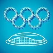 Olympic Stadium logotype — Stock Vector
