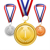 Set of champion medals — Stock Vector