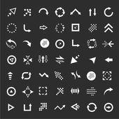 Conjunto de setas da interface — Vetor de Stock