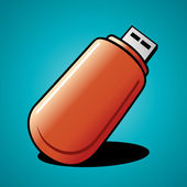 Digital flash drive — Stock Vector