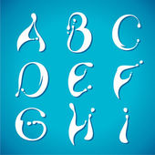 Water milky alphabet — Stock Vector