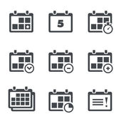 Icon calendar with notes — Stock Vector