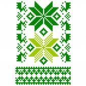 White knitted Scandinavian scarf — Stock Vector