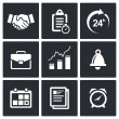 Office business icons set — Stock Vector #65826689